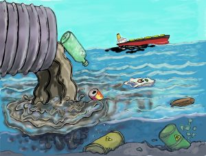 Ocean waste from land and sea