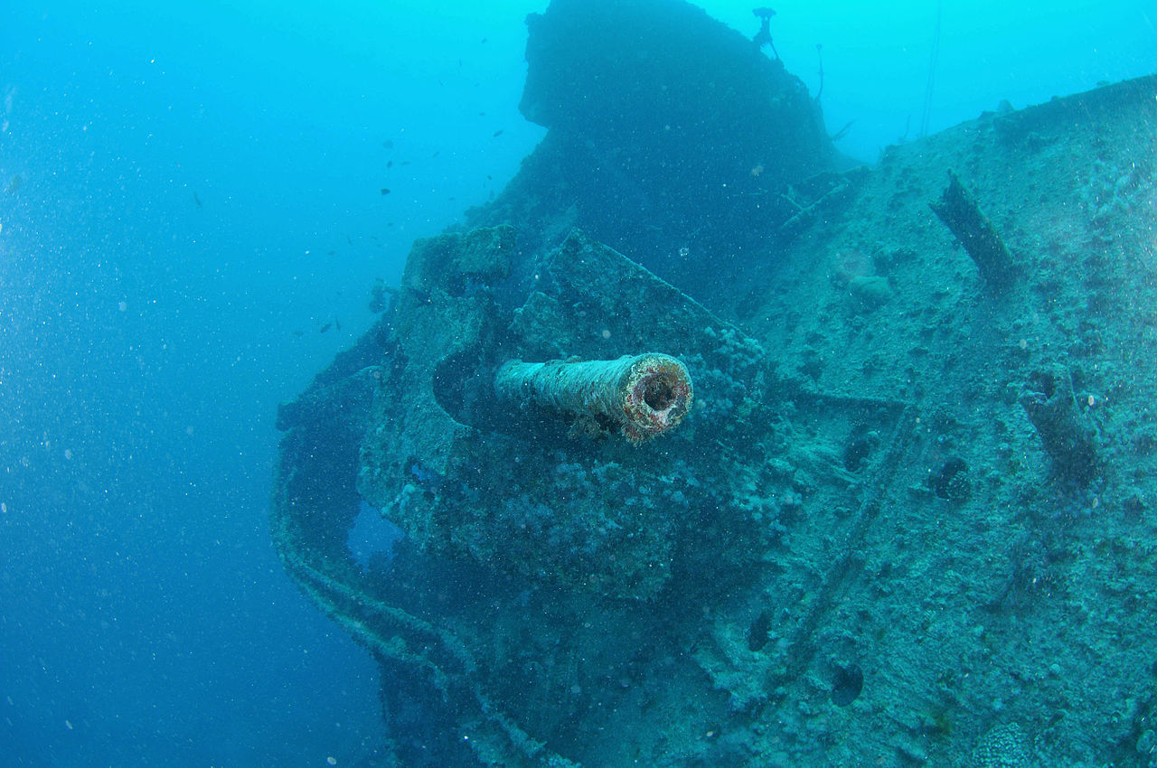 Anti Aircraft Gun On The Wreck Of The SS Thistlegorm