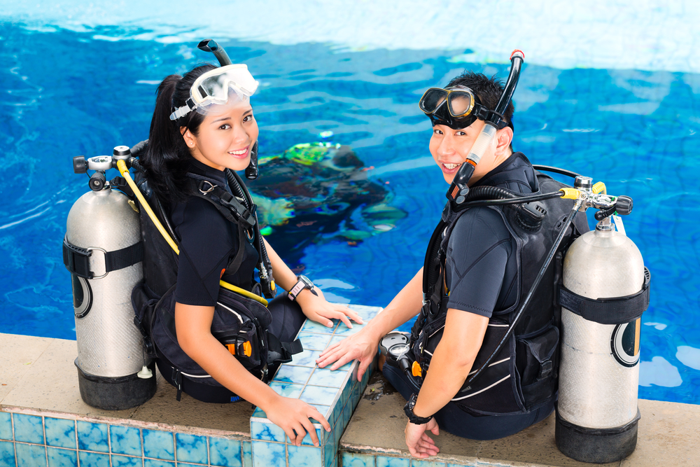 Scuba Diving Guide And Student: Jobs for shark lovers