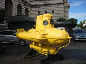Jacques Cousteau submarine near Oceanographic Museum in Monaco