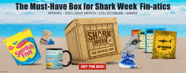 ce7242c867d The Shark Week box is a limited edition box that comes with exclusive Shark  Week apparel